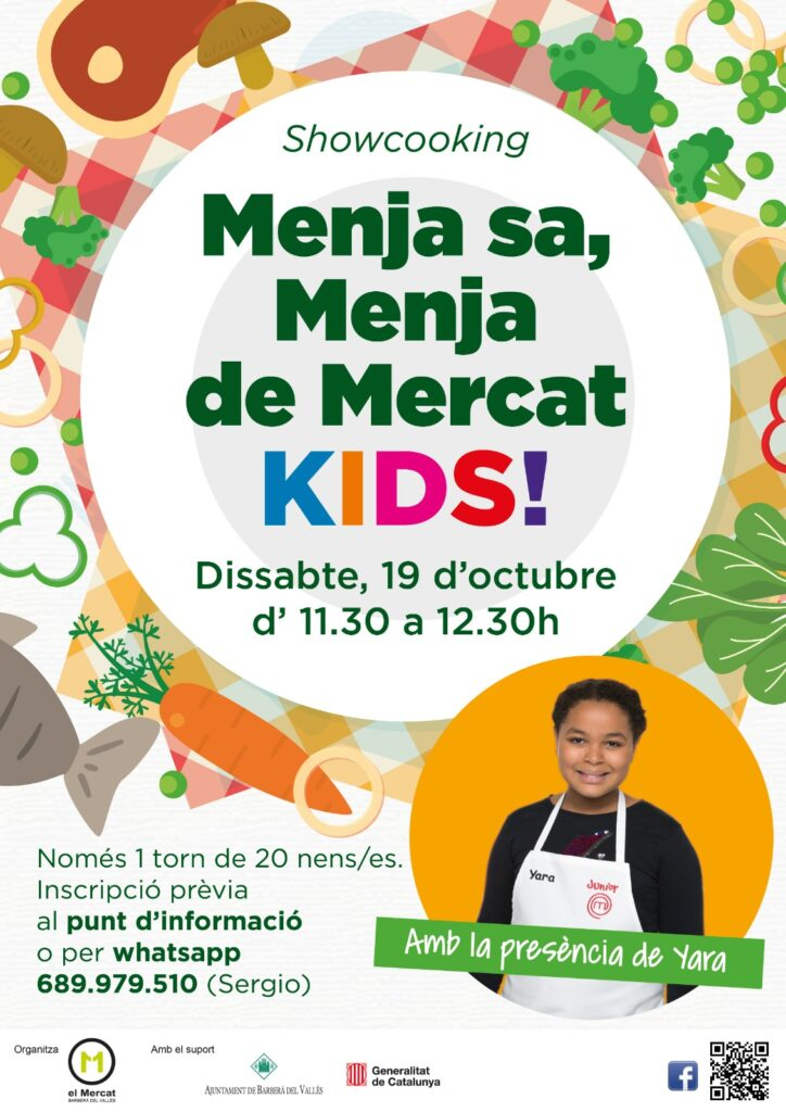 Showcooking, Menja sa, Menja de Mercat, Kids - Taller de cuina infantil al Mercat